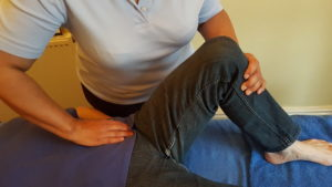 Releasing a hip with Bowen Therapy